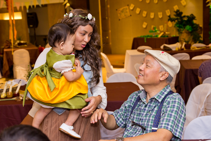 The birthday celebrant greeted by her Lolo Hobbit