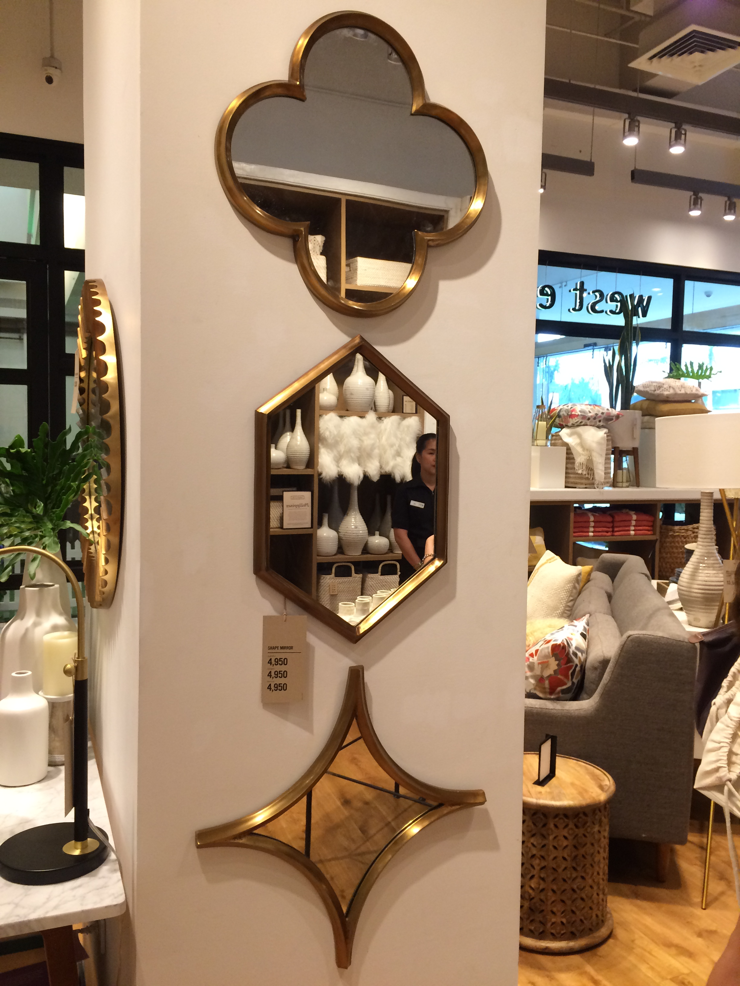 These mirrors would make a great wall accent in an empty hallway wall, or maybe an entryway. Definitely saving up for these.