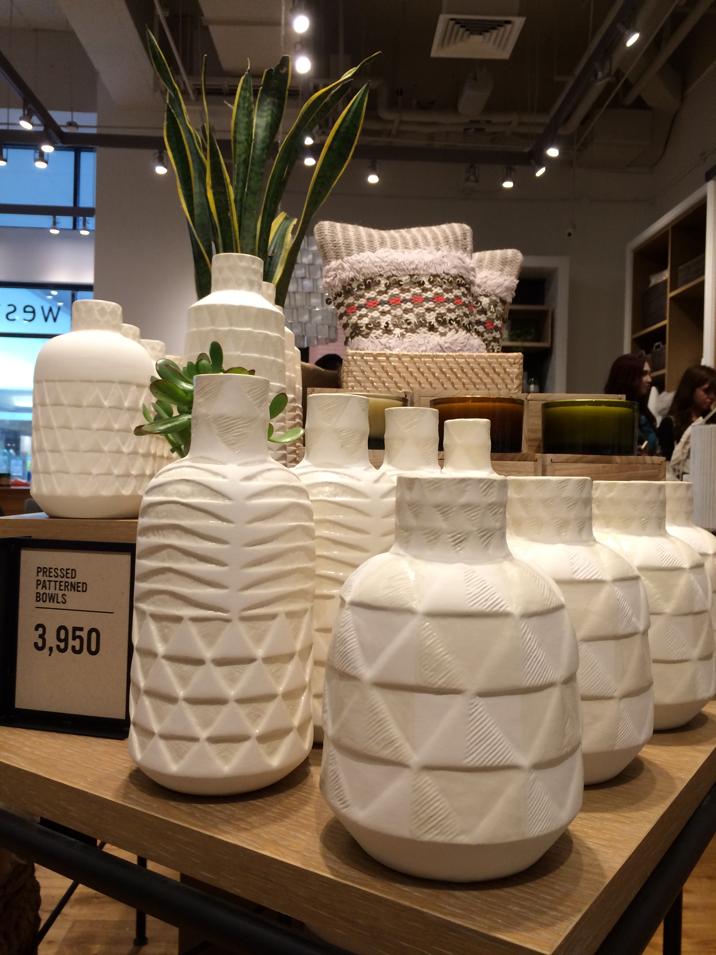 Geometry on these pressed patterned jars