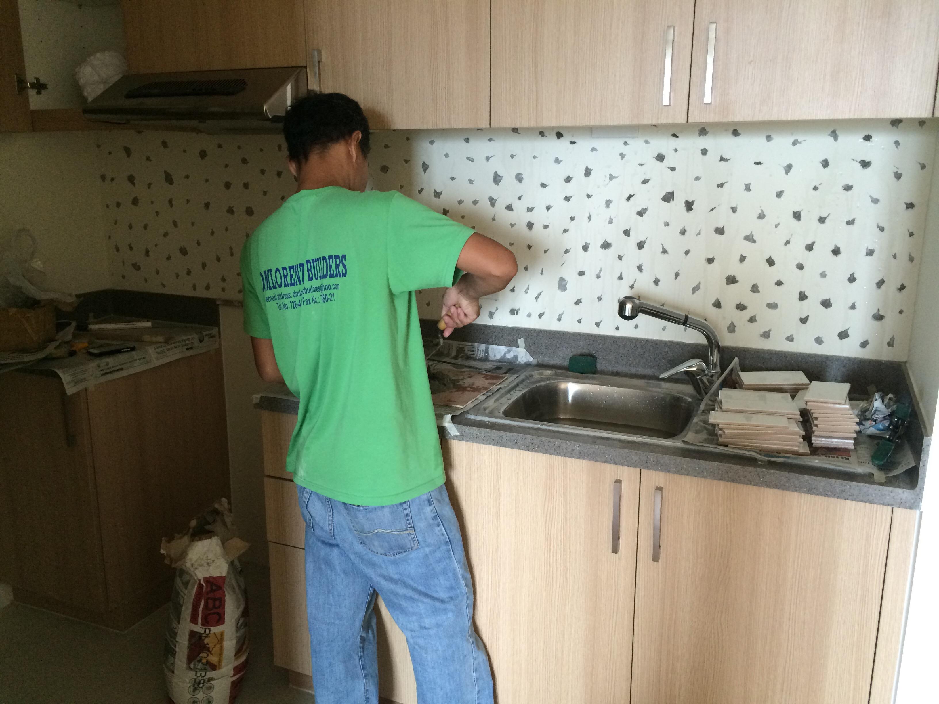 renovation, condo, interior design, backsplash, kitchen