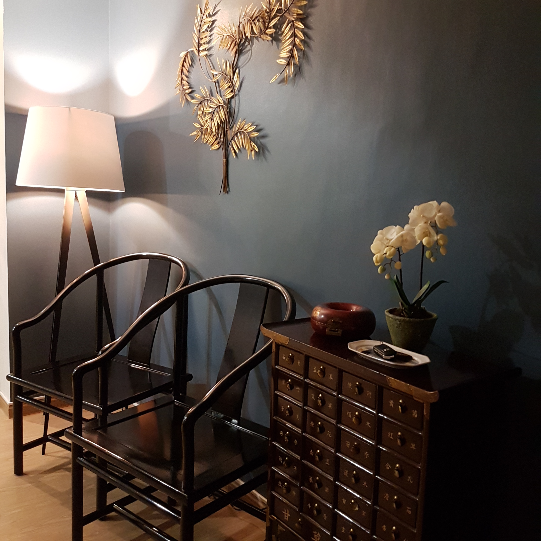 interior styling for Asian-style entryway