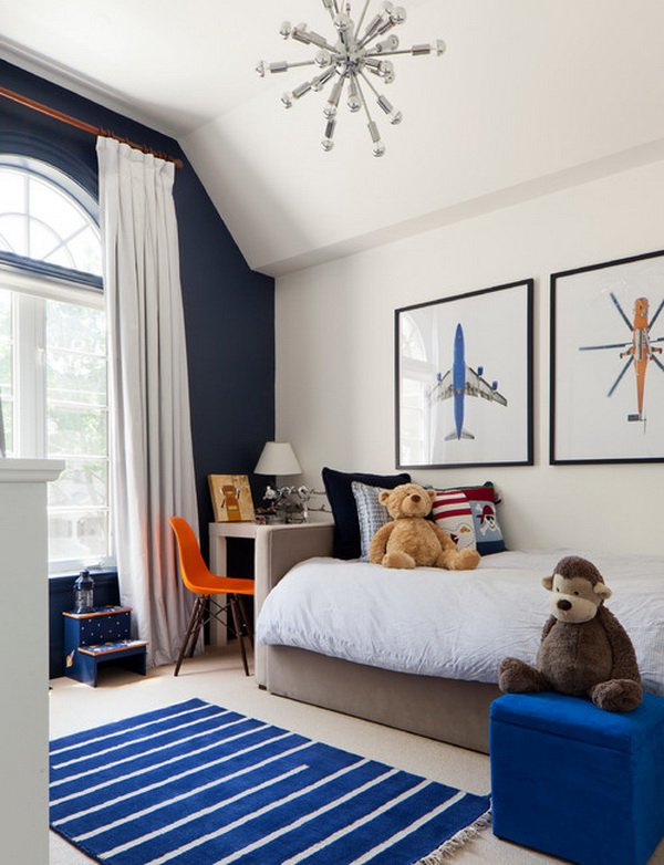 navy blue kid's bedroom