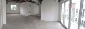 Empty, unfinished rooms