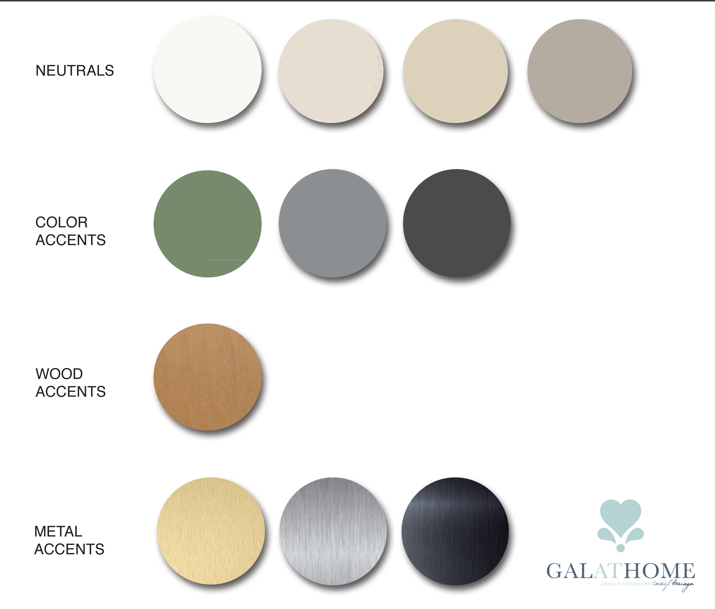 3-studio type condo interior design Color Palette