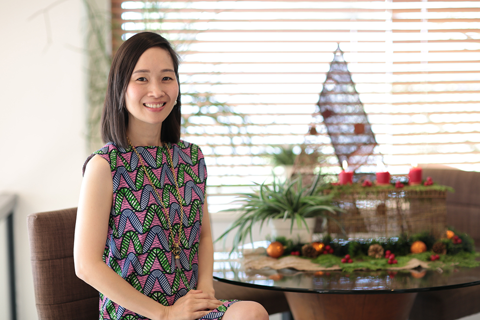 Christine Dychiao, founder of Spark Joy Philippines, posing for the camera