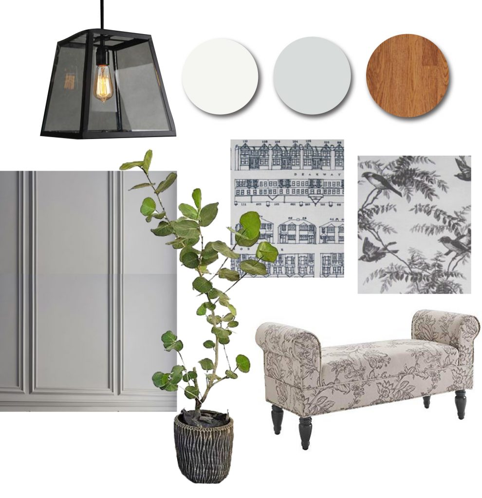 Transitional style mood board