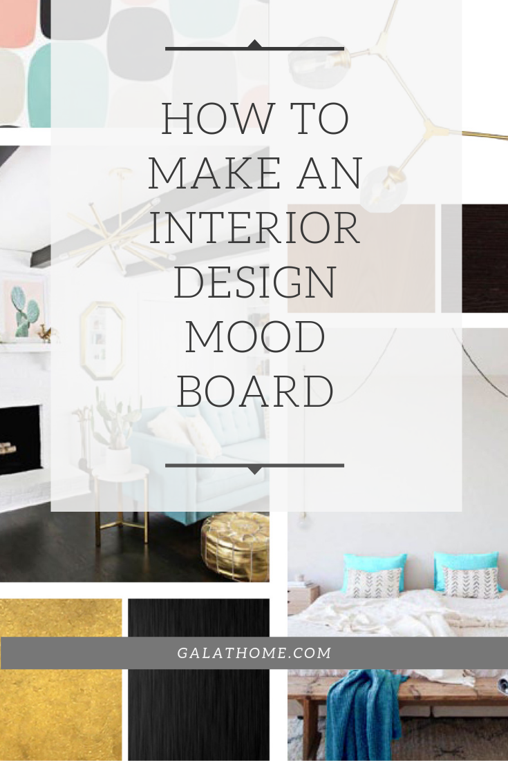 How to make an interior design mood board cover