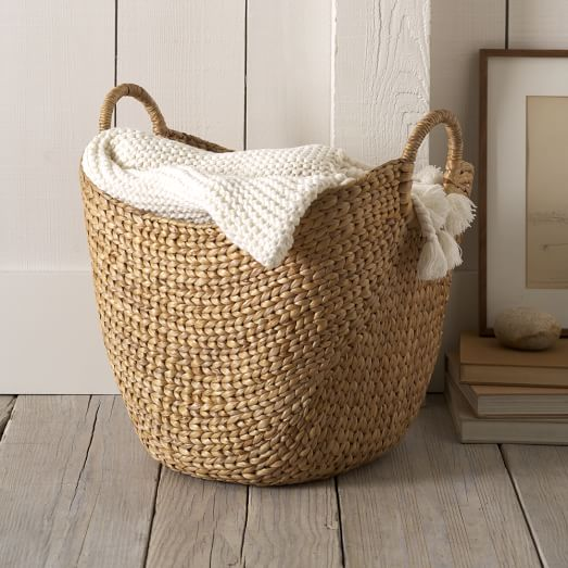 image of large curved basket, before being dropped out in Photoshop